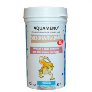 Кальций для рептилий Aquamenu Экзокальций с витамином Д3